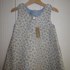 Blue rose tunic dress