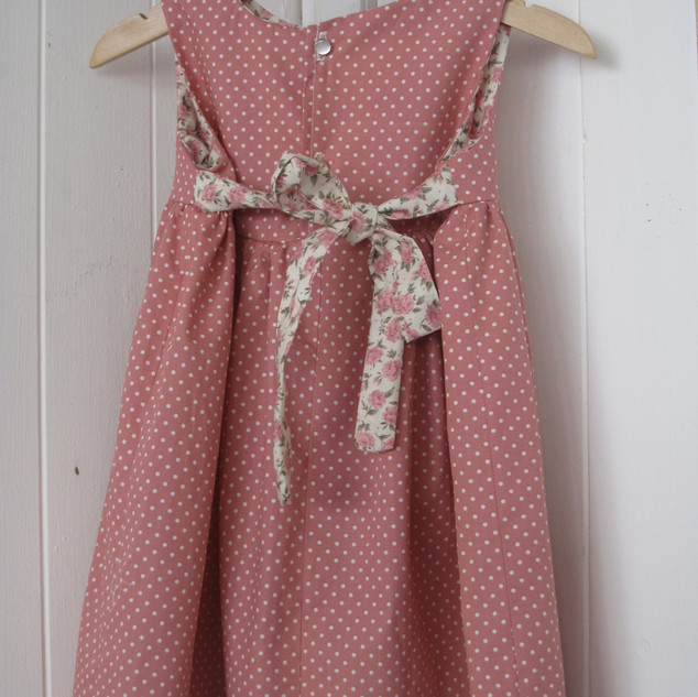 Dusty pink rose dress