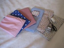 A variety of fabrics