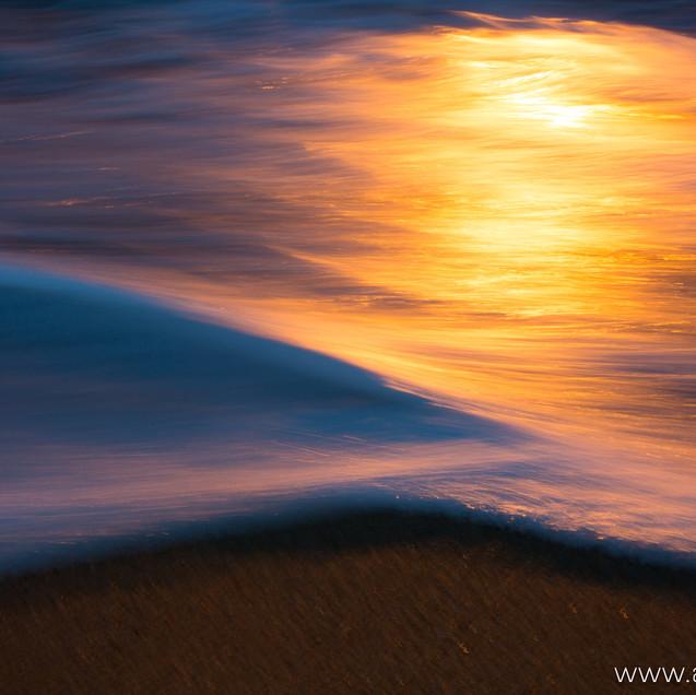 Strand im Abendlicht