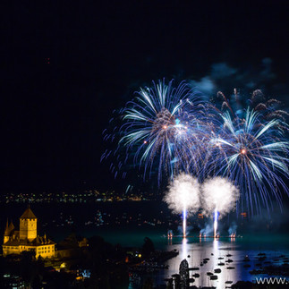 Feuerwerk in Spiez
