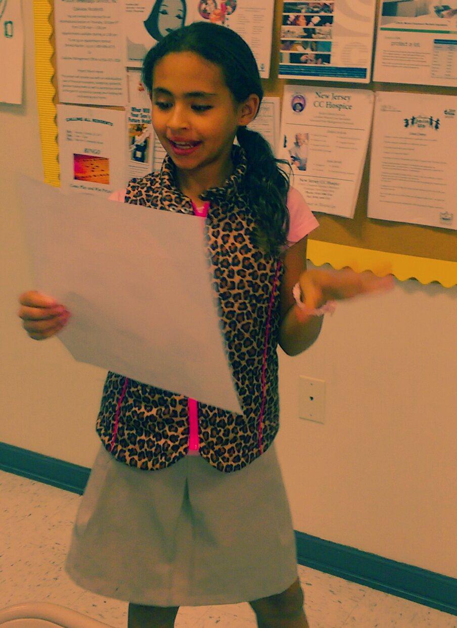 Daliny makes a presentation. #DIVA