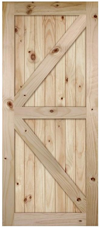 British Brace Pine Barn Door