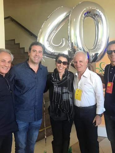 40 anos da marca O Boticário, Arthur e Dr. Miguel com os franqueados