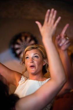 Trinity college dancing bride