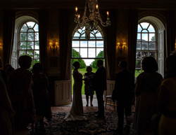 Just about to say I do in silhouette at Kingston Bagpuize House