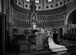 What an incredible church the Oxford Oratory is. Th bride and groom kneeling at the alter
