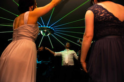 Glitterball dancing on the dance floor at Elmore Court