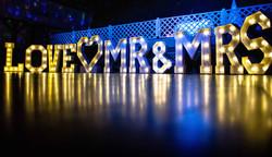 Mr and Mrs dance floor lighting