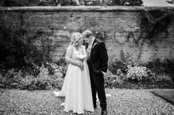 The happy couple share an embrace at Easthamstead