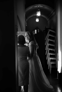 A stunning bride waiting to make her entrance