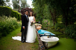 Portrait of the Bride and groom at Lady Margaret Hall