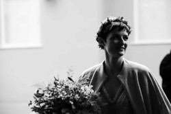 Gorgeous bride with her beautiful bouquet
