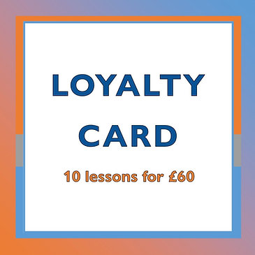 10 Lessons Loyalty Card