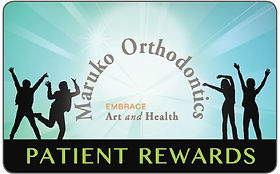 patient rewards, free gift cards, maruko orthodontics