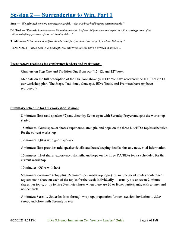 2021_06_27 - BDA Solvency Immersion Conf