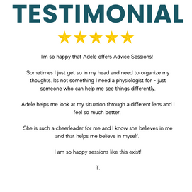 Working with Adele has been a wonderful experience! I wanted to try hypnotherapy because I