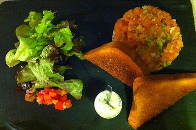 Tartare de saumon, Restaurant Chez Margot Capbreton