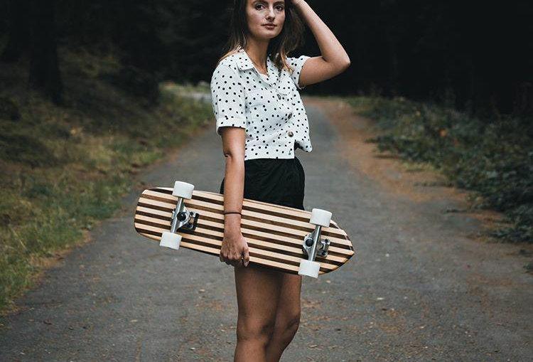 Striped Cruiser Skateboard