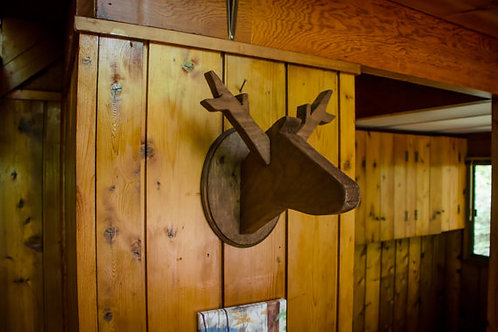 Wooden Deer Head Taxidermy