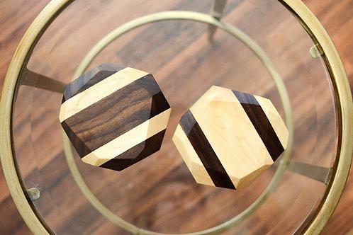 Wooden Geometric Coasters (Set of 4)