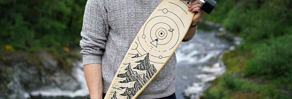 """""""Carsten Daub"""" Artist Collaboration Longboard (Supports Trees for the Future)"""