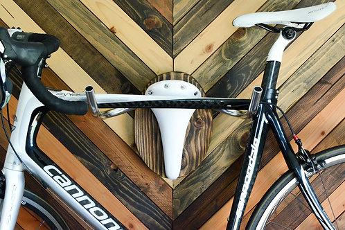"Bicycle Rack Taxidermy ""The Albino"" Bike Rack Wall Display Hanger"