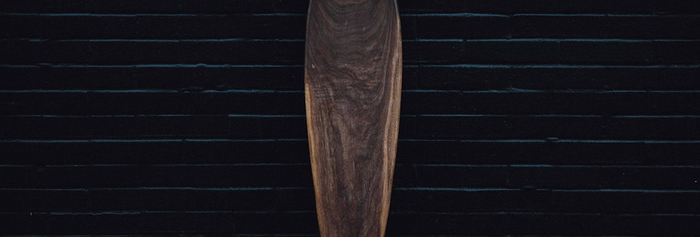 Black Walnut Pintail Longboard