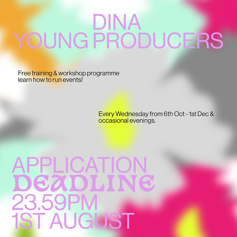 Young Producers - Free training & workshop program: learn how to run events!