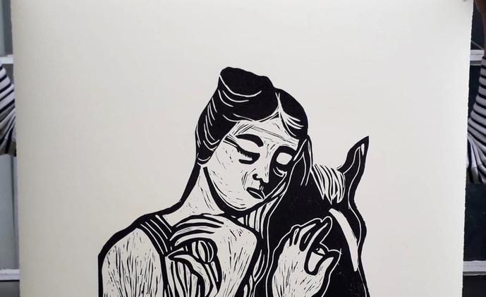 Woman holding horse_Jessica Jane Charles