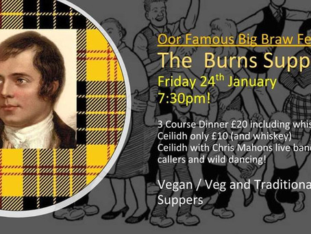 DINA'S FAMOUS BURNS NIGHT RETURNS!