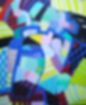 Gitte Levin uden titel 2 akryl 50 x 60 k