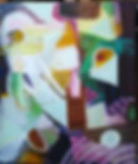 Gitte Levin uden titel  akryl 50 x 60 kr