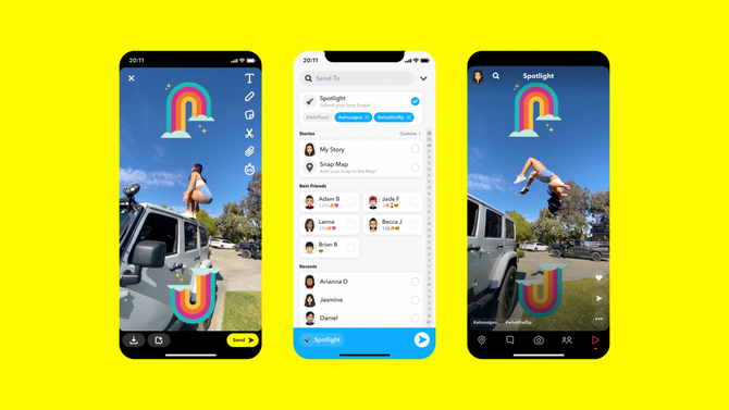 Snapchat to incentivize - Spotlight - for Middle East users