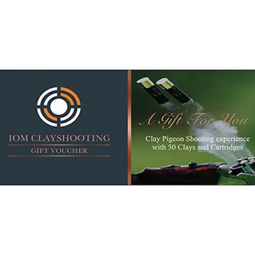 Clay pigeon shooting gift voucher