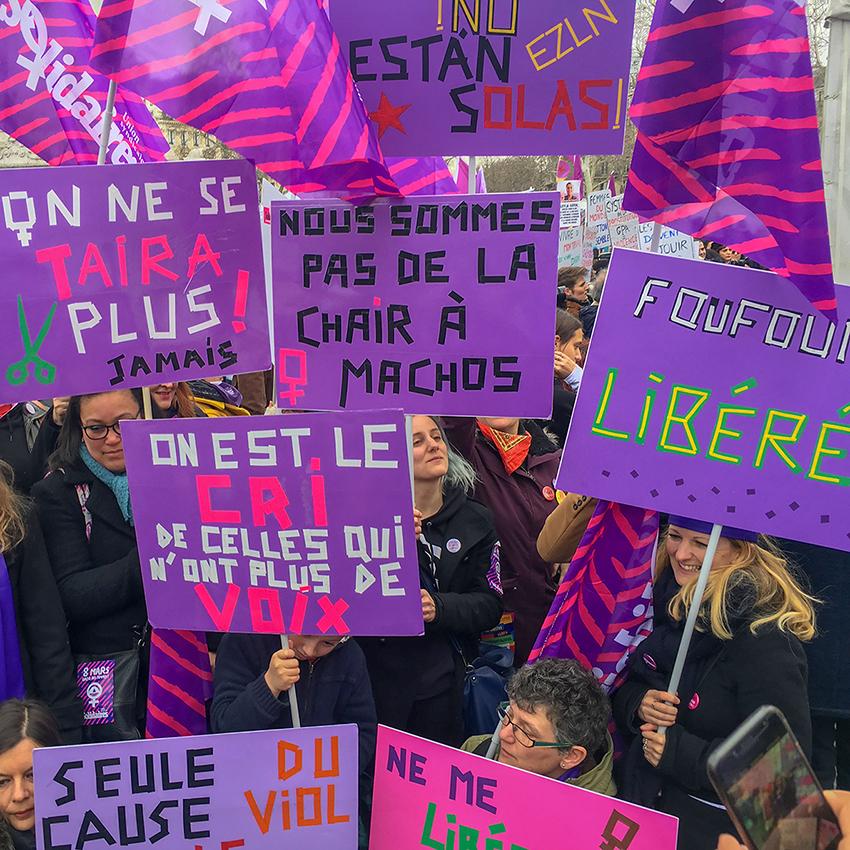 Anaïs Enjalbert - Rassemblement du 8 mars 2019 avec l'Union syndicale Solidaires - 2019