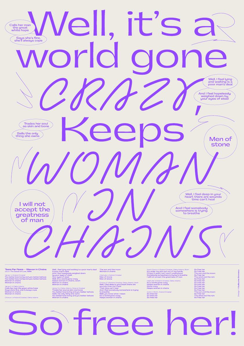 Guillaume Bonneau - Woman in chains - 2021
