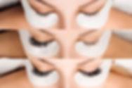 Eyelash Extension. Comparison of female