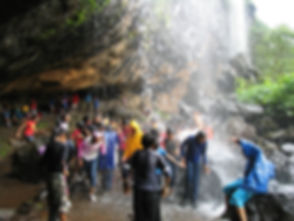 enjoying waterfall at kondana.JPG