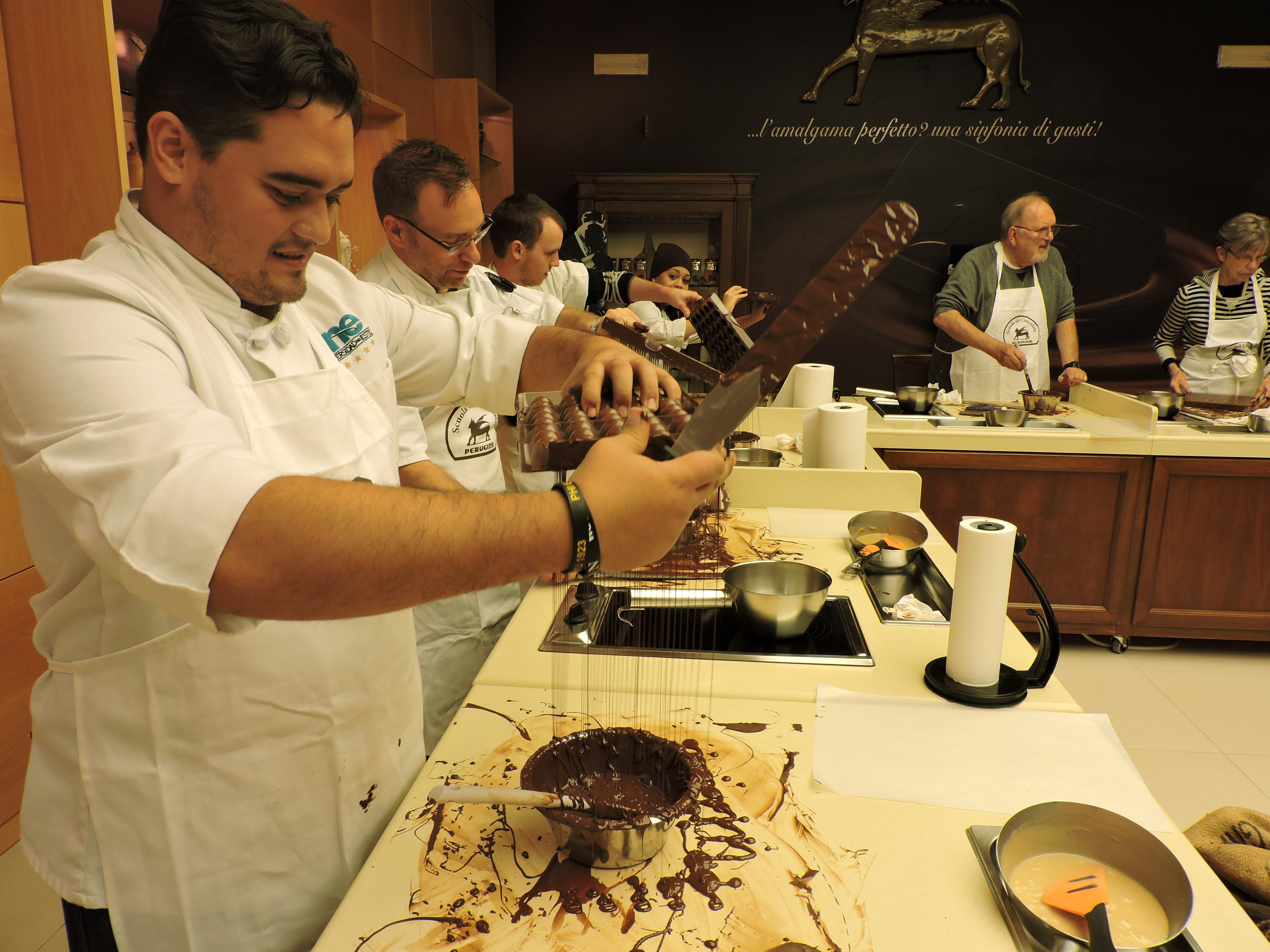 Chocolate class at Perugia