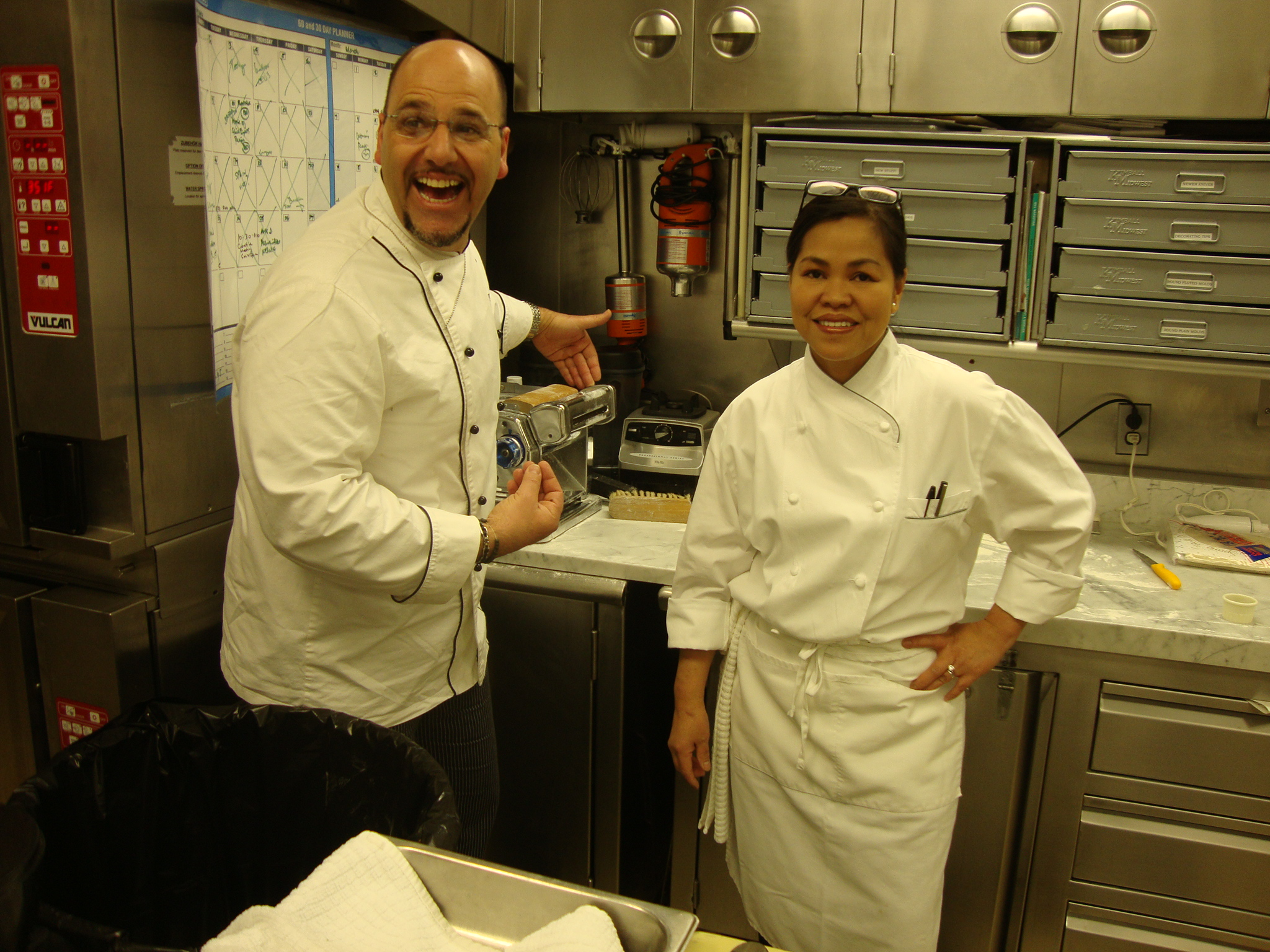 Chef Lorenzo with Cristeta Comerford