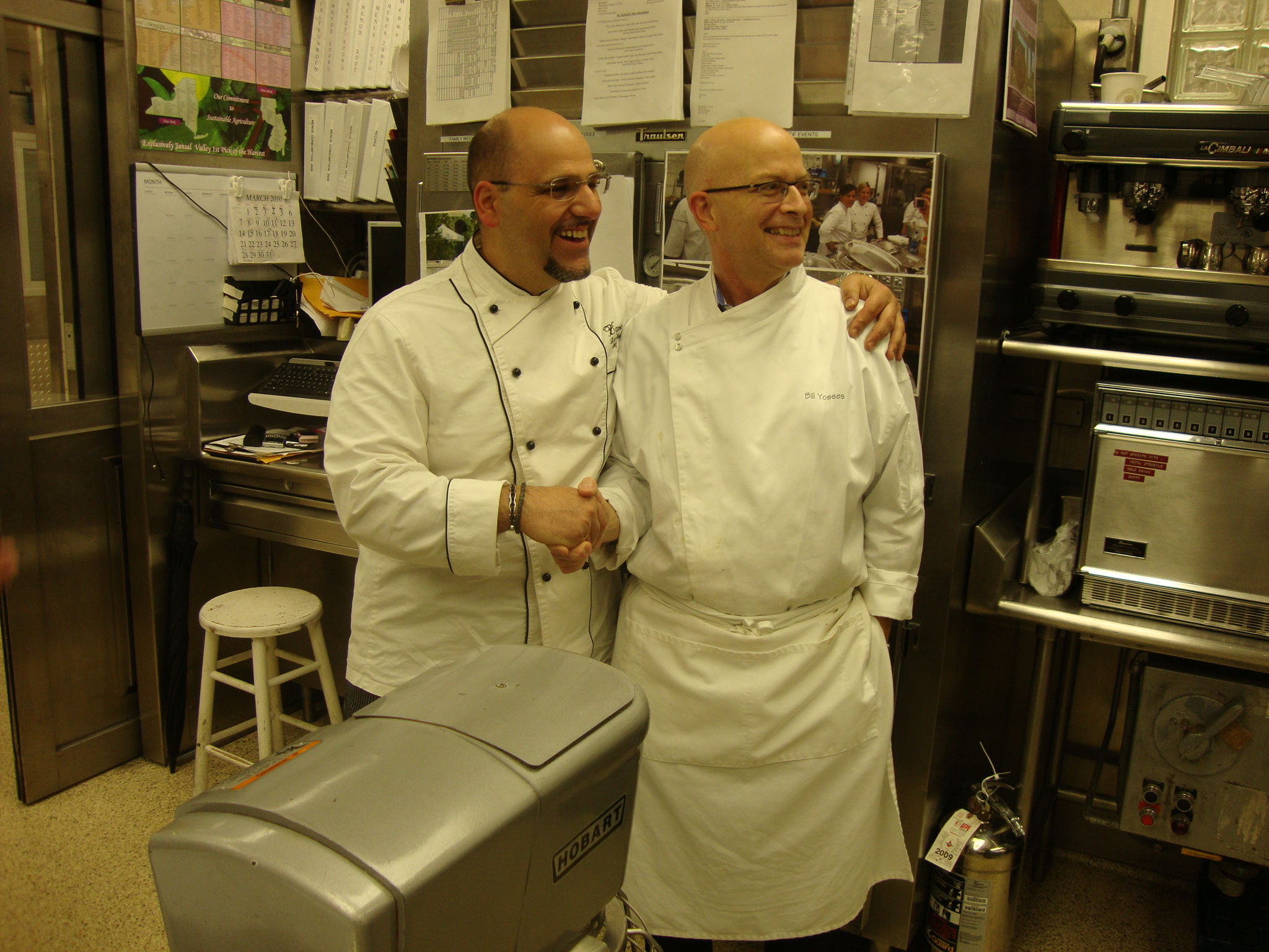 Chef Lorenzo with Bill Yosses