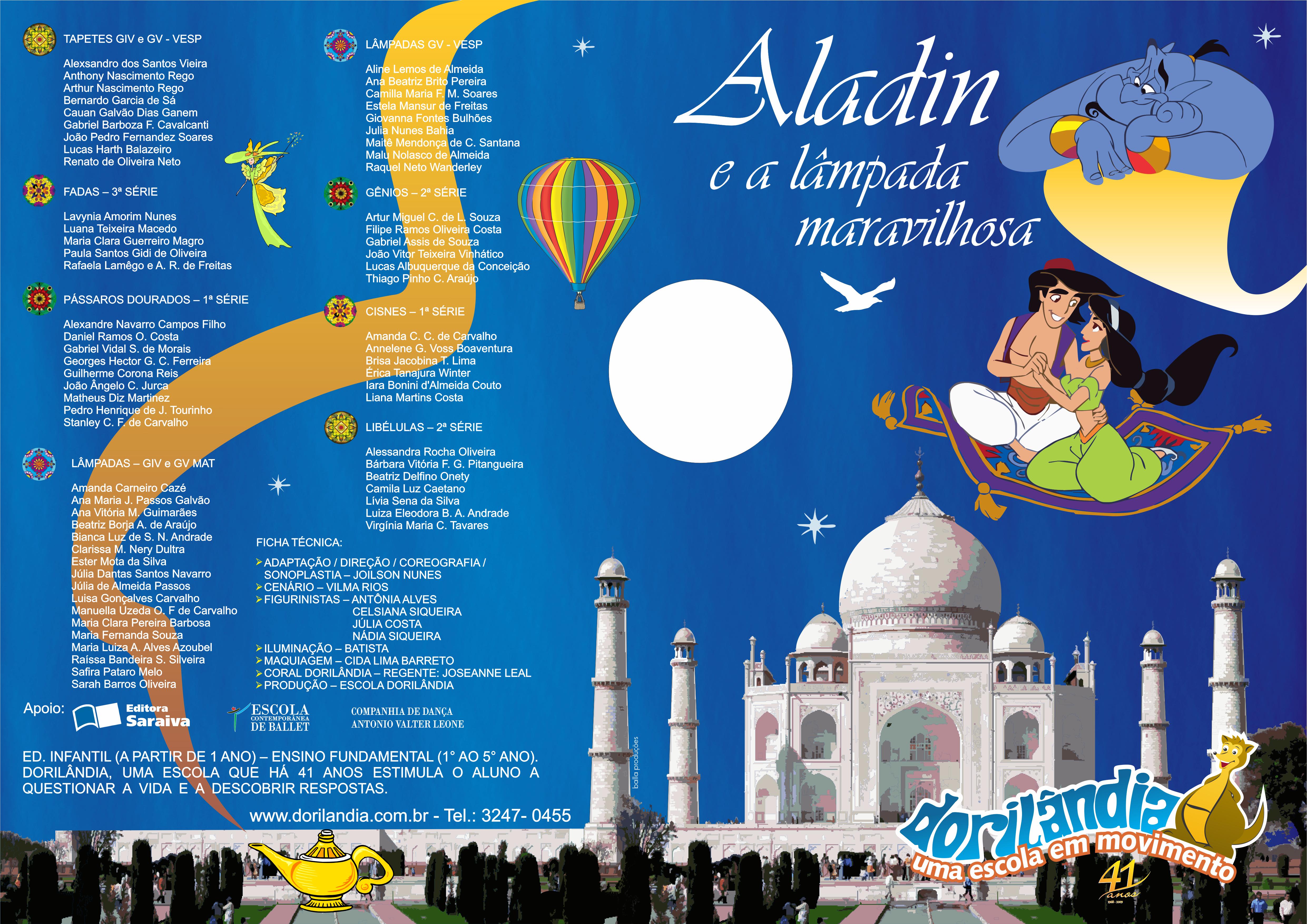 Teatro Aladin - Escola Dorilândia