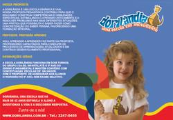 Folder - Escola Dorilândia