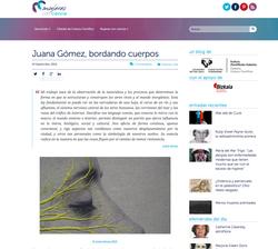 Juana Gomez Bordando cuerpos