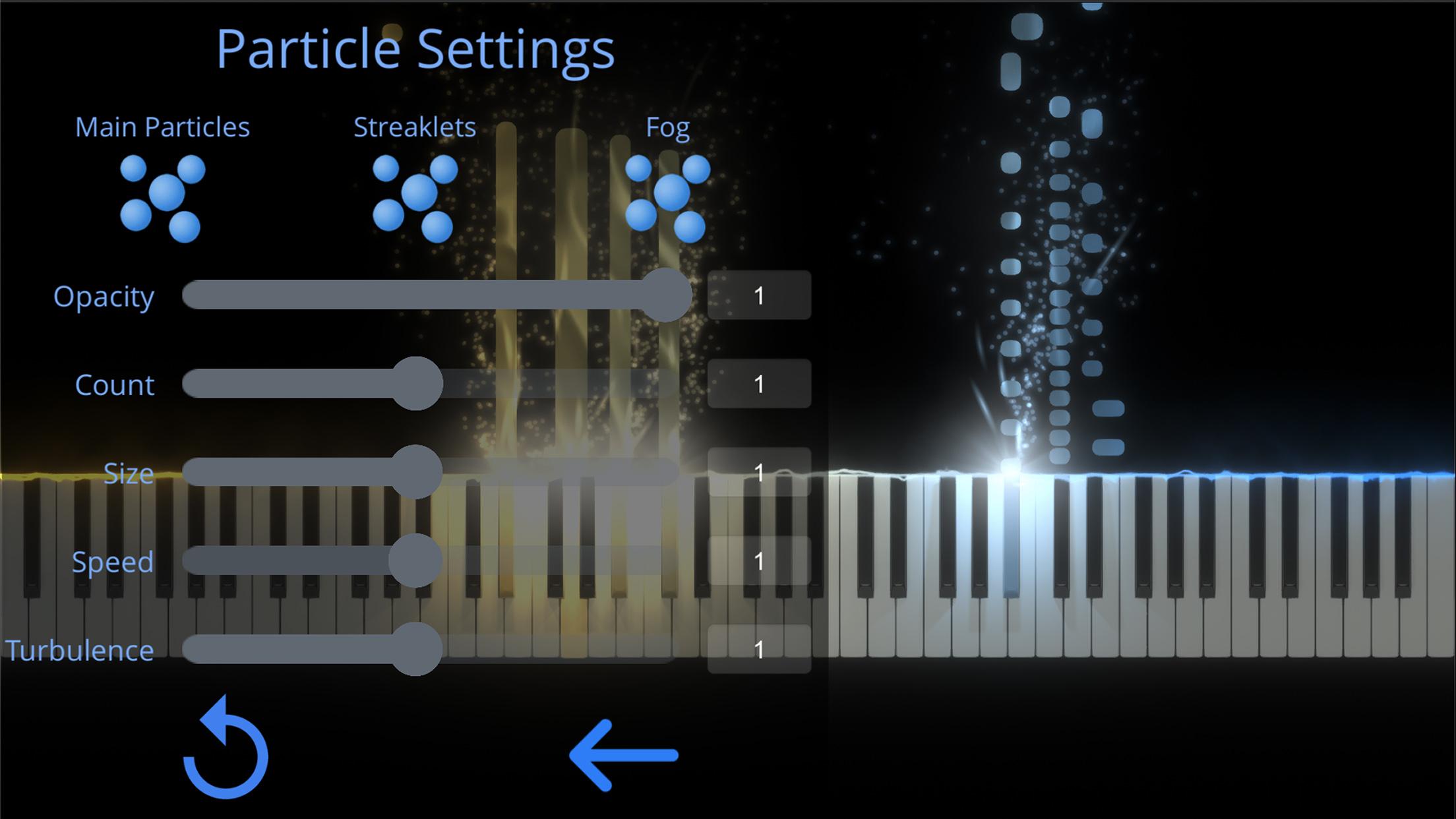 SeeMusic Particle Settings