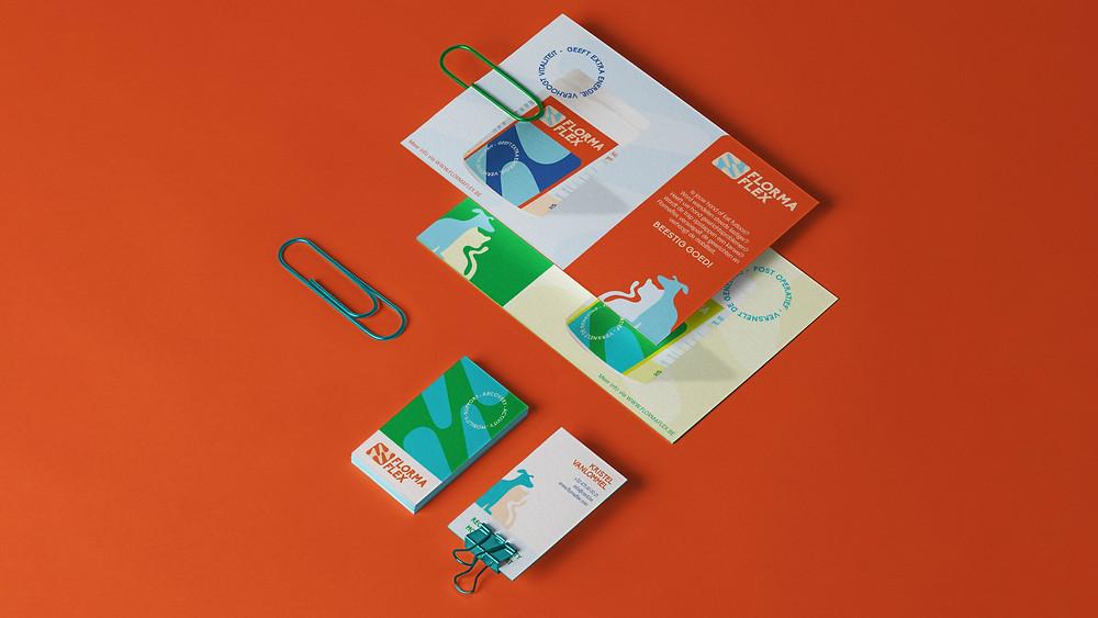 Flormaflex Stardust Kleurrijk grafisch ontwerp grafische vormgeving logo inclusief gent brussel dieren supplement huisdieren supplement groen genezing visitekaartjes flyer folder stationary huisstijl branding