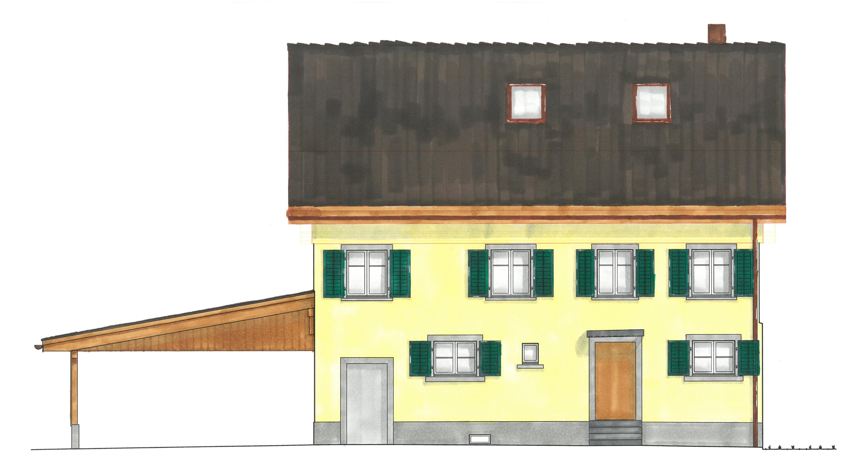 Farbstudie Fassade Nord