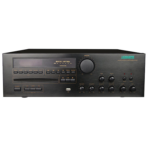 DSPPA MP-7806, 2 Zone, 100V Line All-in-one Amplifier with MP3/Tuner/CD/DVD