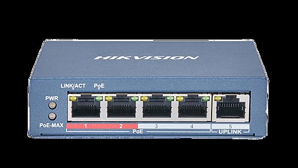 Hikvision 4 Port Fast Ethernet Unmanaged POE Switch